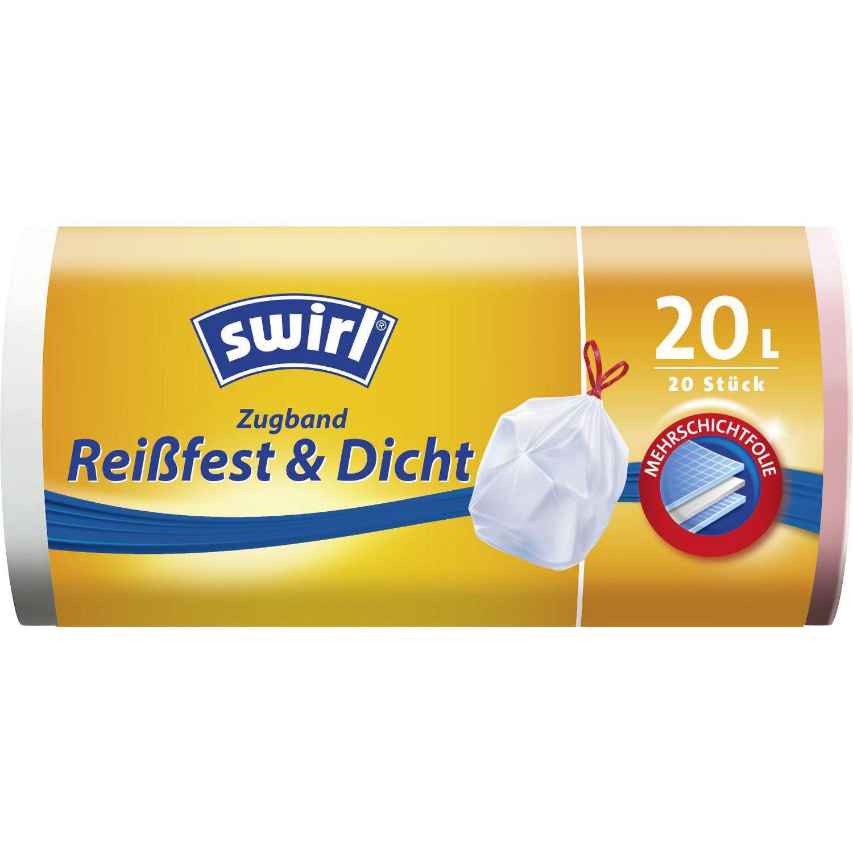 Müllbeutel mit Zugband Reißfest & Dicht, 20l